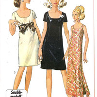 Mod Swedish Pattern Snabbmodell 60s Mod dress vintage sewing pattern Simplicity 7384 Ung Damstorlek 36
