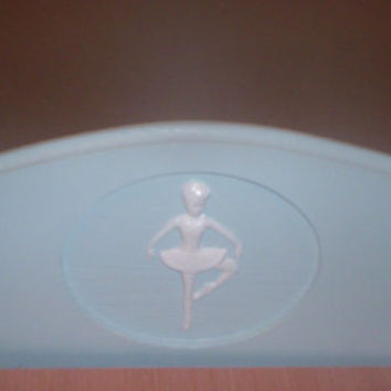 Handcrafted American Girl doll size bed blue ballerina doll furniture