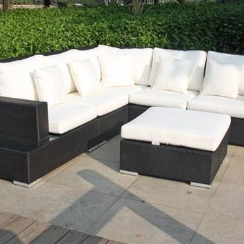 2017 Living room outdoor furniture Rattan sectional sofas corner furniture Sofa