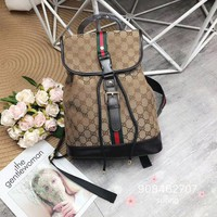 Gucci Women Fashion Canvas Satchel Bookbag Backpack
