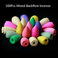 100 Piece Mixed Backflow Incense Pods