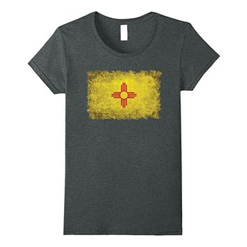 New Mexico Flag T-Shirt in Retro Grunge