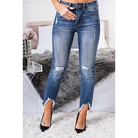 Lucky Break Distressed Jeans (Dark Stone)