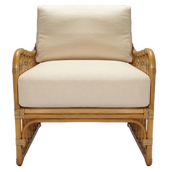 Ella Rattan Lounge Chair, Nutmeg, Accent & Occasional Chairs