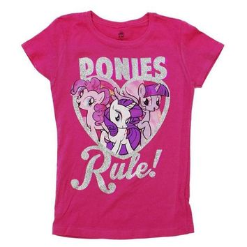 PEAPGQ9 My Little Pony - Ponies Rule Girls Youth T-Shirt