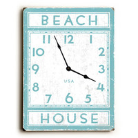 Beach House Unique Wall Clock by Artist Peter Horjus