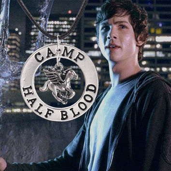 PERCY JACKSON CAMP HALF BLOOD FLY HORSE PENDANT NECKLACE