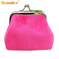 Naivety New Fashion Lady Corduroy Mini Wallet Holder Woman Coin Purse Clutch Bag JUL4 drop shipping