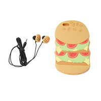Burger Case for iPhone 6 and Earbud Set