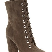 Vince Camuto Teisha Lace-Up Zip Bootie (Women) | Nordstrom