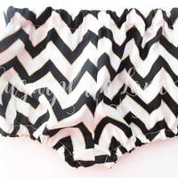 The Black, Gold, White Chevron Bloomers