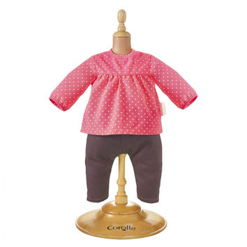 Corolle Raspberry Blouse & Denim for 12-inch baby doll