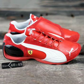 PUMA X Ferrari Men Running Sport Casual Shoes Sneakers Red G-SSRS-CJZX