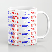 I love Washington-washington,washingtonian,american rome,dc,white house Coffee Mug by oldking