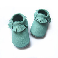 Turquoise Moccs, Baby Moccasins, Turquoise, Aruba Blue,  Moccs, Baby/Toddler, Shoes, Genuine Leather, Moccasins, Baby Shoes, Toddler Shoes