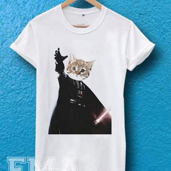 Cat Vader Kitten Kitty Darth Vader Starwars ,T shirt for women and men