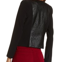 Laser Cut PU Panel Blazer