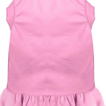 Plain Pet Dress Light Pink Sm (10)