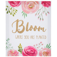 Bloom Where You Are Planted Canvas Wall Decor   Hobby Lobby   5793260