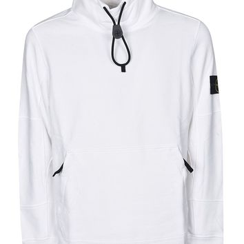 White Drawstring Jumper by Stone Island
