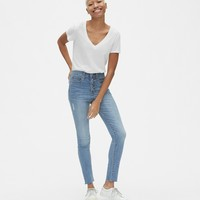 High Rise True Skinny Jeans with Secret Smoothing Pockets | Gap