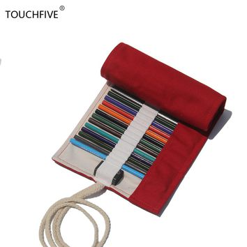 36/48/72 Holes Pencil Case School Cotton Roll Pouch  Makeup Brush Etui Pen Storage Pecncil Bag Estuches School penalty