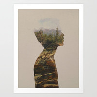 Side by Side Art Print by Davies Babies