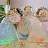 Fish in a Bag Glycerin Soap 7 ounces! Chidrens Party Favor Kids Soap
