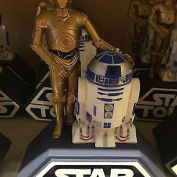 disney parks star wars tours R2-D2 and C-3PO plastic coin bank new