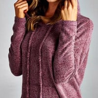 Soft and Cozy Hoodie - Burgundy