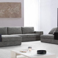 Divani Casa Anthem - Grey Sectional and Chair