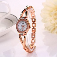 Xiniu Women Watch Bracelet Watch Bangle Watch OL Ladies Alloy Dress Rhinestone Daisies Flower Rose Gold Cheapest Watch #LREW