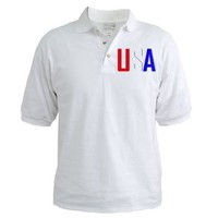 USA Patriotic Polo Golf Shirt - USA - HolidayUSA