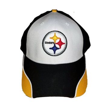 Pittsburgh Steelers Hat - White/Yellow Swirl Style