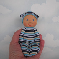 Waldorf first doll for baby boy, Pocket doll, Toddler gift, Handmade natural toys, Babyshower gift,  Organic soft toy for Children birthday