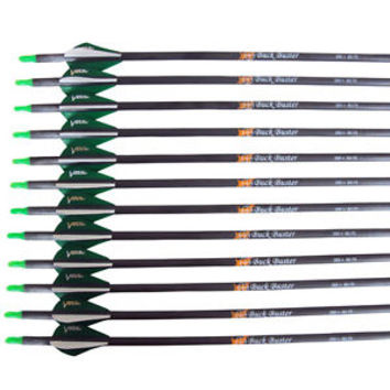 Victory Archery Exclusive Buck Buster Carbon Arrows 350 Spine 12 Pack