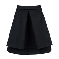 Simone Rocha Pleated Mesh Skirt - Knee Length Skirt - ShopBAZAAR