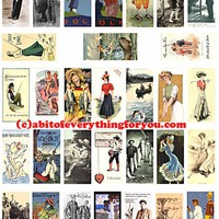golf and fishing vintage art domino collage sheet 1 x 2 inch clip art digital download sports graphics images printables pendants