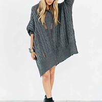 Ecote Wilderness  Poncho- Dark Grey