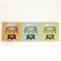 3 Faces of Buddah Printed Canvas - $35.00 : ThreadSence, Women's Indie & Bohemian Clothing, Dresses, & Accessories