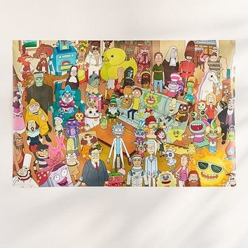 Rick And Morty Group Poster | Urban Outfitters