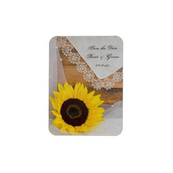 Sunflower and Lace Country Wedding Save the Date from Zazzle.com