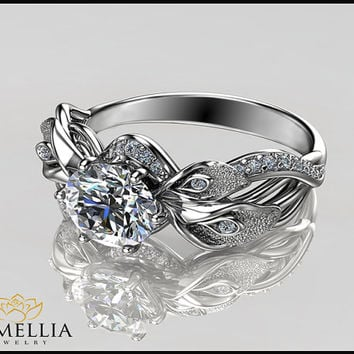 engraved wedding price with made diamond custom ring for at best name rings jewellery women gold and on design leaf its