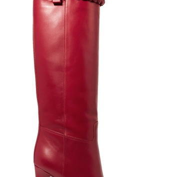 Leather knee boots | Valentino | US | THE OUTNET
