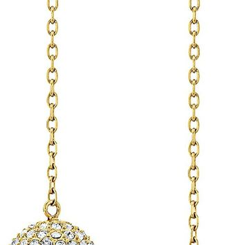 "Michael Kors ""Brilliance"" Iconic Links Linear Fireball Drop Earrings"