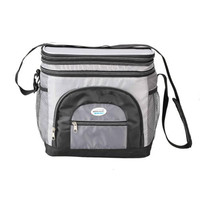 Brentwood Cooler Bag 6 Can w/ Hard Plastic Ice Bucket-GREY