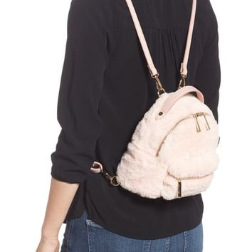 Mali + Lili Gemini Faux Fur & Vegan Leather Convertible Backpack | Nordstrom