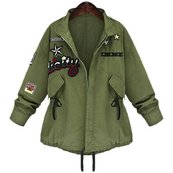 Womens Military Bomber Jacket