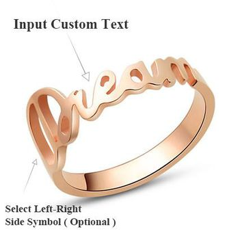 DIY Personalized Custom Name 925 Sterling Silver Promise Ring