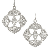 Kendra Scott : Dawn Medallion Earrings in Silver